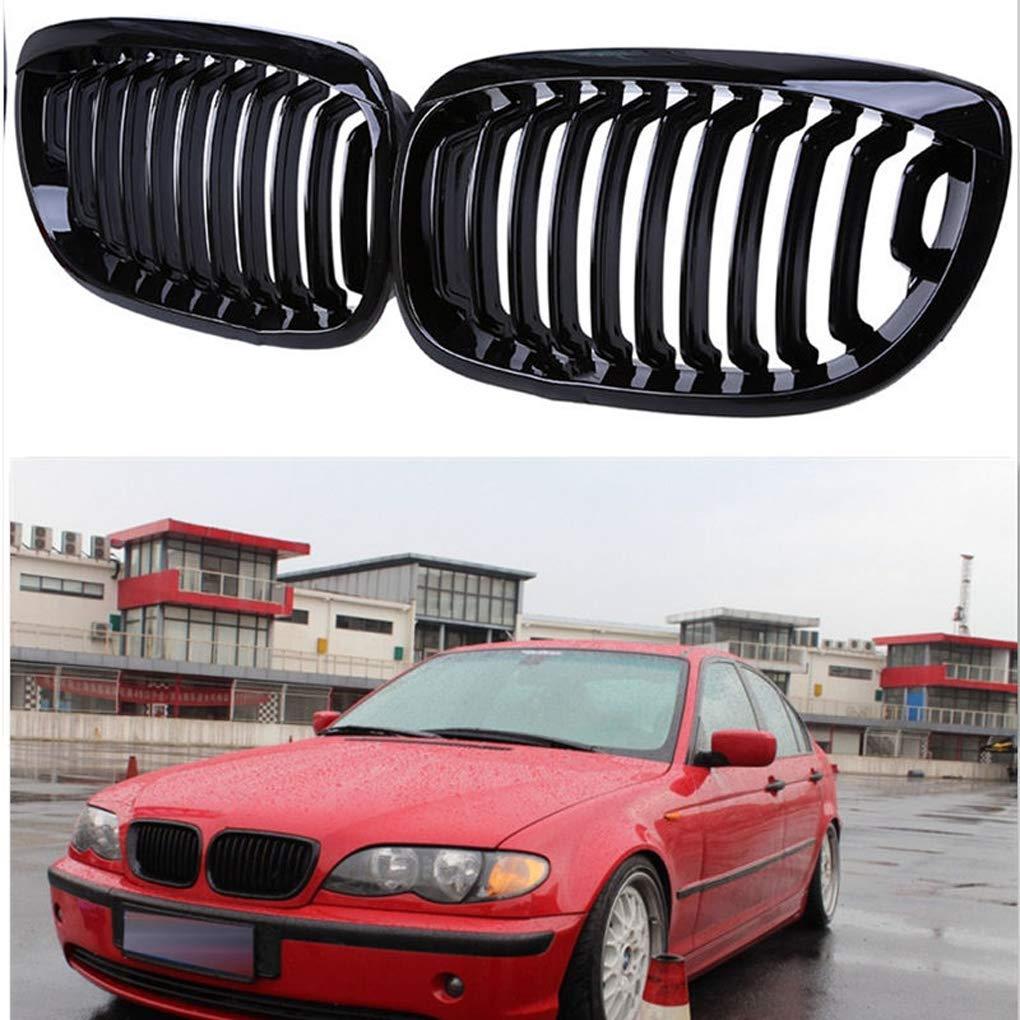 ELENXS Fit f/ür E46 2 T/ür 3 Series 2002-2006 Facelift Gloss Black Front ierengitter