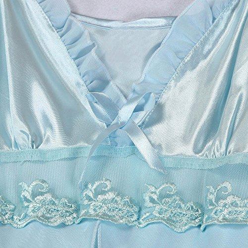 Camison Sexy Mujer Encaje Absolute Moda para Mujer Sexy Lace Plus Size Lace Babydoll Set Ropa de Dormir Ropa Interior Pijamas Ropa erótica Mujer: Amazon.es: ...