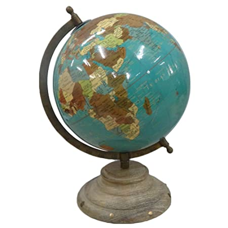 World map globe antique style round shape 5 grey ball 8 tall world map globe antique style round shape 5 grey ball 8 tall standing table gumiabroncs Gallery