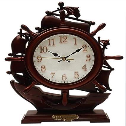 Clock Relojes Y Relojes Retro Europeos Sala De Estar Mudos Grandes Relojes De Escritorio Reloj De