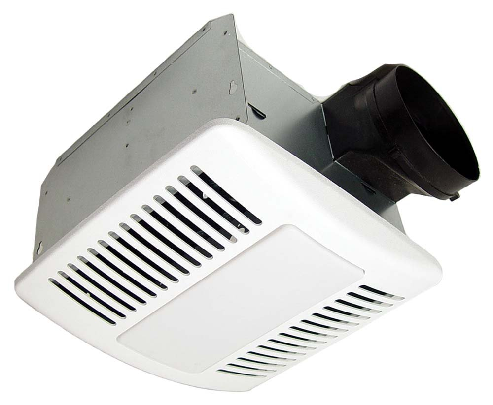 KAZE APPLIANCE SE90TL Modern Ultra Quiet Bathroom Exhaust Ventilation Fan  CFL Light And Night Light, White     Amazon.com