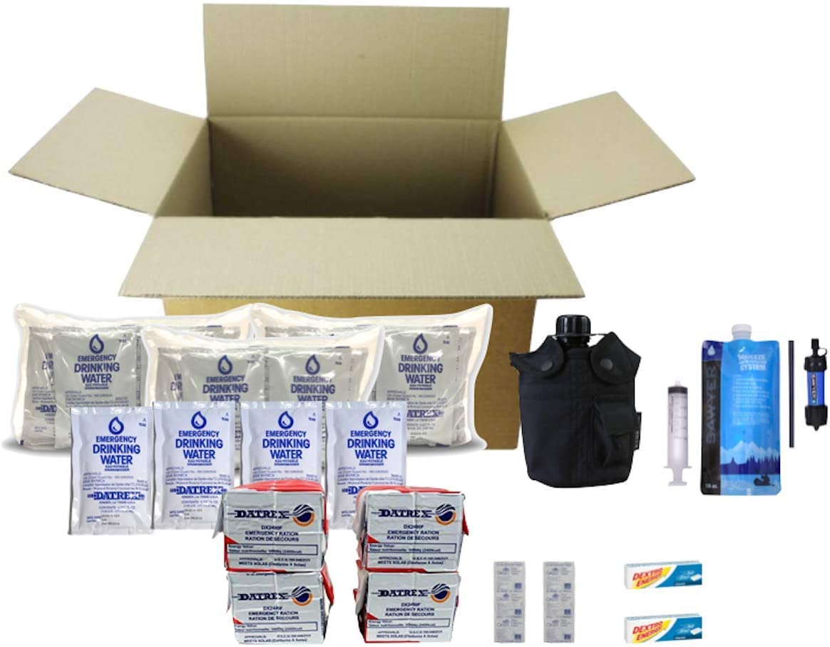 Kit de Supervivencia y ración para 12 días de Emergencia: Amazon ...