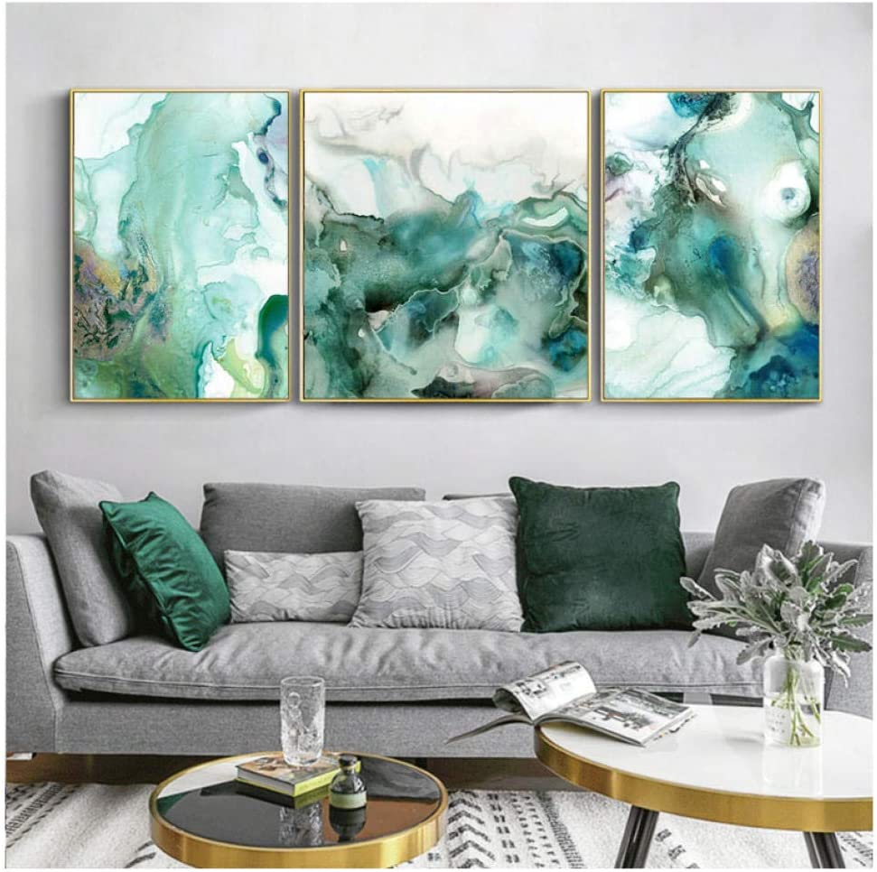 Dine room wall art Colorful Mint Brown Modern Kitchen Wall Art Modern Brown kitchen Decor Unframed Mint Dining room wall art