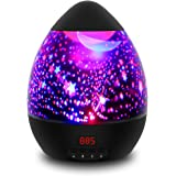Star Projector, LBell Newest Star Sky Baby Night Light-360 Degree Rotating Cosmos Star Projection Lamp with Timer Auto-Shut, Color Changing, for Baby Kids Bedroom, Christmas Gift