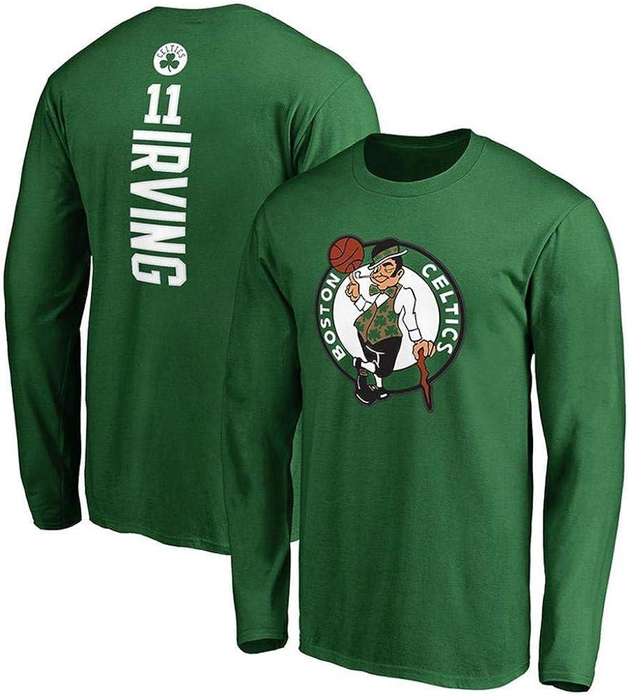 Camiseta de Baloncesto NBA Boston Camiseta de Manga Larga para fan/áticos de los Deportes de los Celtics