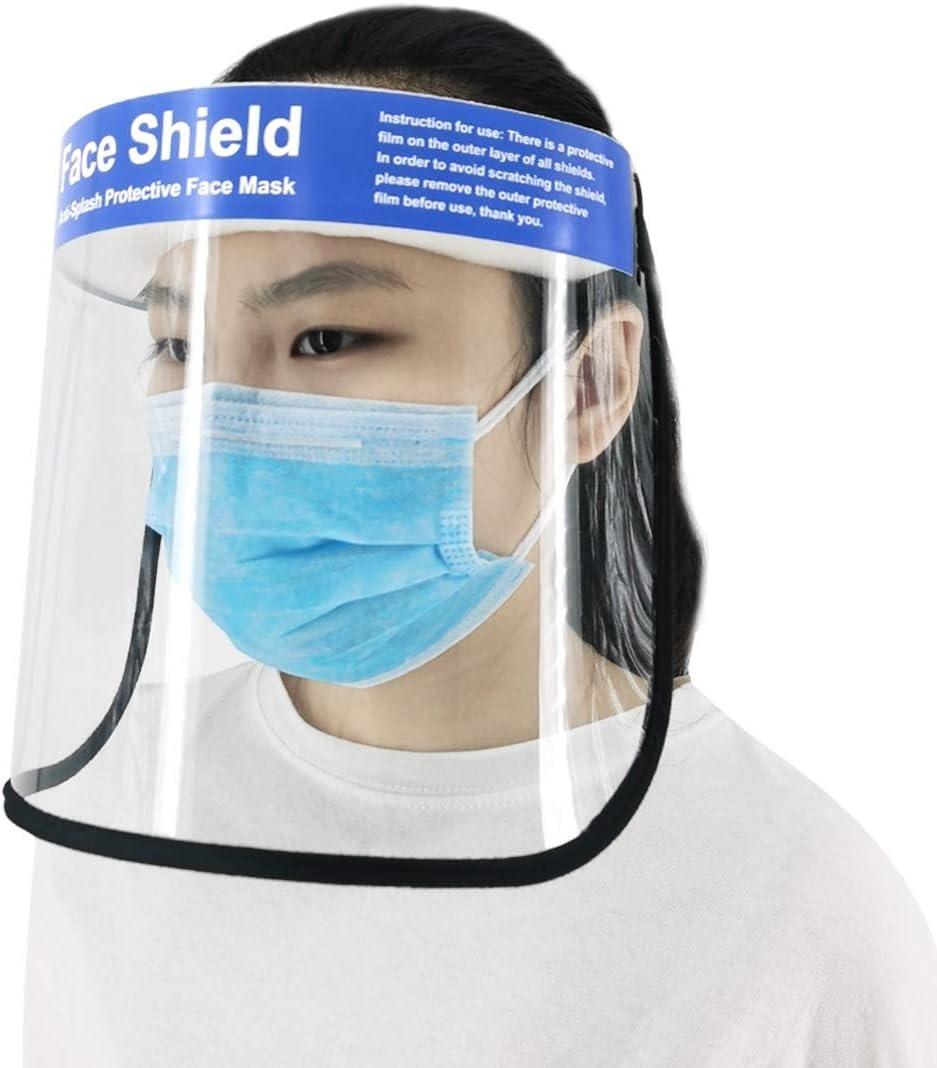 RANJINPEAKEDCAP Anti-Salpicaduras de Saliva Anti-Escupir antivaho incoloras Desechables Protectores faciales con Elastic Band