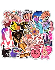 AllRing 50Pcs Gesto del Dedo Paquete De Pegatinas Pegatinas Vsco, Impermeable Pegatinas Moto Graffiti Stickers Vintage para Laptop, Coche, Maleta, Casco Bicicleta, Vinilos para Portátiles