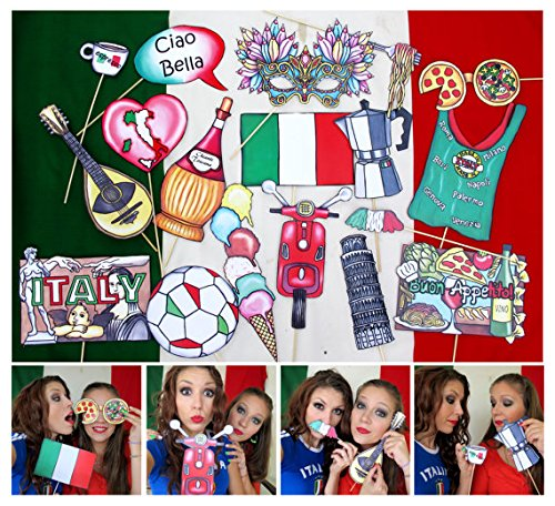 Italy Photo Booth Props by The Party Event