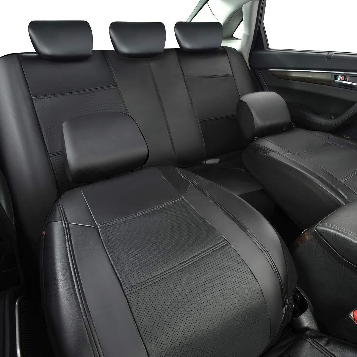 Cubiertas de Asiento de Auto de Cuero Artificial Protector para Asientos Delanteros y Traseros de Autom/óvil CAR PASS 11 pieza Juego de Fundas para Asientos de Coche Universal