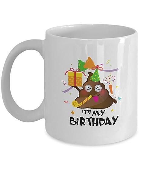 Amazon.com: It s My Cumpleaños, caca Emoji niños chica ...