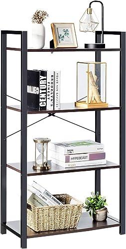 Giantex 4-Tier Industrial Bookshelf