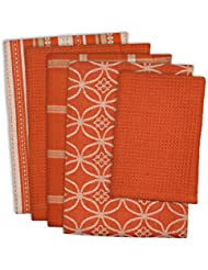 Dii Cotton Oversized Kitchen Dish Towels 18 X 28 And Dishcloth 13 X 13 Set Of 5 Absorbent Washing Drying Dishtowels For Everyday Cooking And Baking