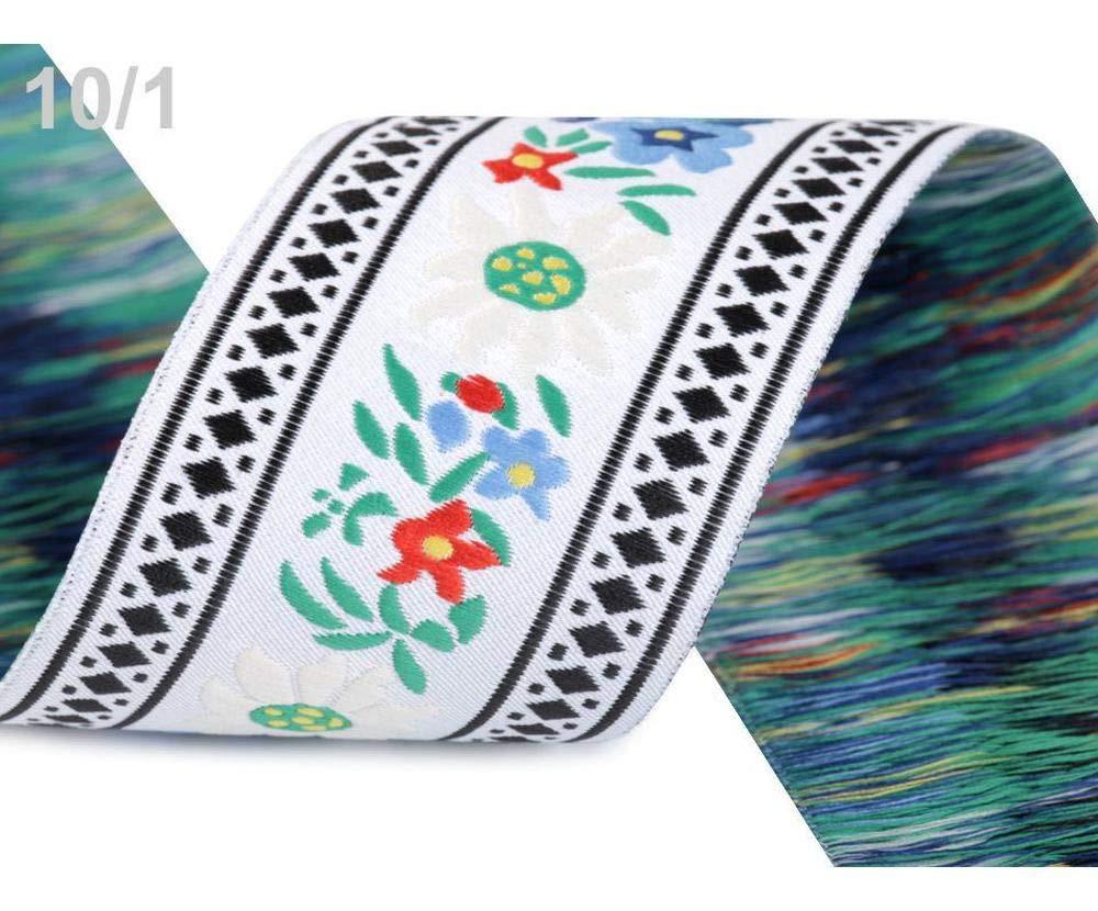 15mm SILVER jacquard embroidered velvet ribbon applique trimming