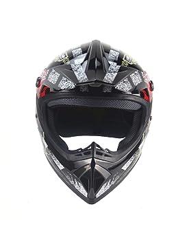 ZYear Casco De La Motocicleta Cara Completa Cascos Harley para Hombres Casco De La Bici Casco