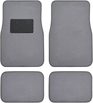 Coupe Sedan Truck SUV BDK Premium Set of Universal Carpet Floor Mats with Vinyl Safety Heel Pad for Car