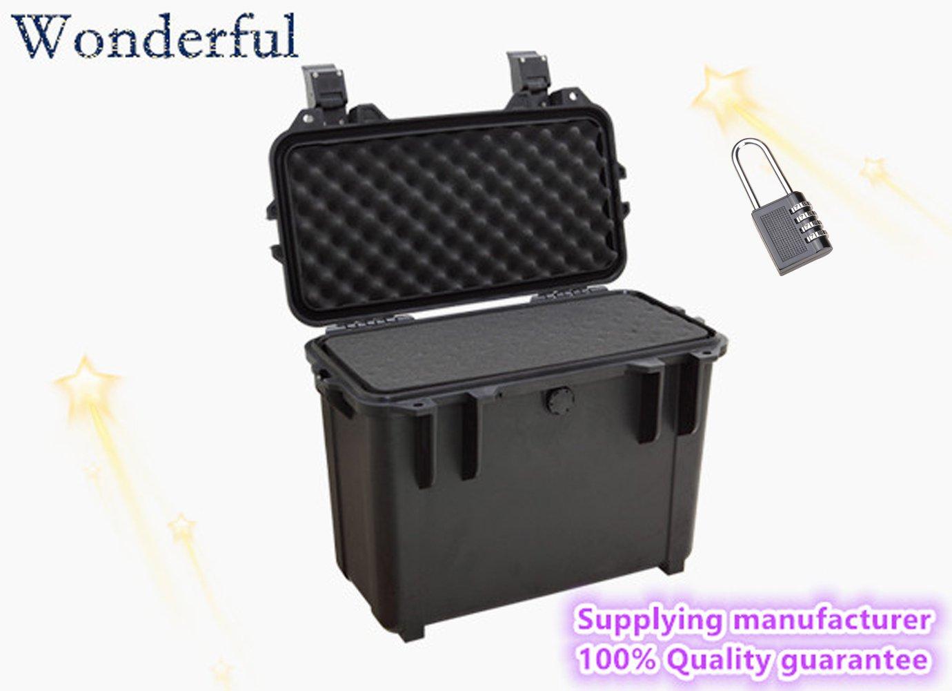 Wonderful pc-3930s Watertight Cases使用ABS素材、高強度と影響抵抗、絶対密封防水、防塵for yourカメラと機器エスコート(ブラック/オレンジ)   B01ELKYXBG