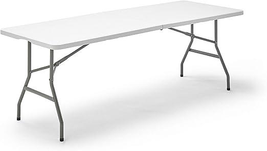 Kithome Folding 200 Table Pliante Blanc Amazon Fr Jardin