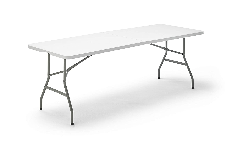 KitGarden - Mesa Plegable Multifuncional, 200x74x74 cm, Blanco, Folding 200