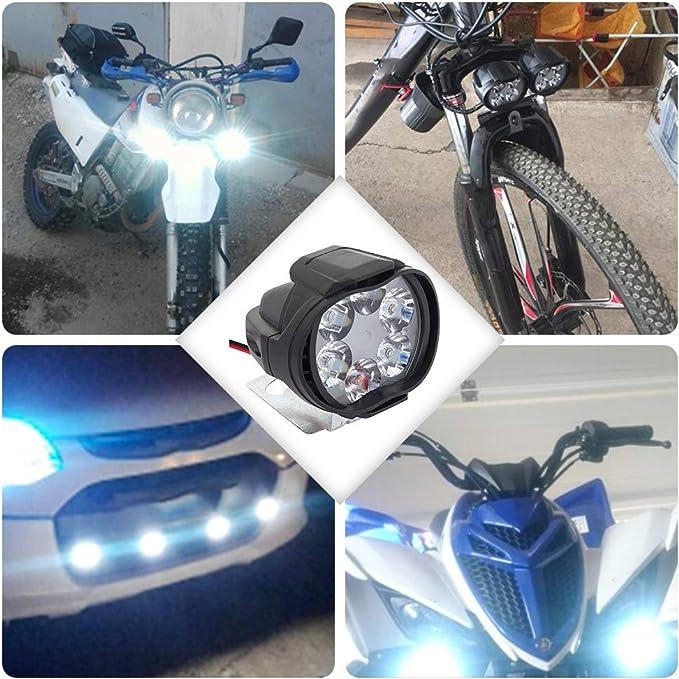 2 Stück Universal Scheinwerfer Für Motorrad Wasserdicht 6 Leds Motorrad Scheinwerfer Nebelscheinwerfer Nebelscheinwerfer Roller Scheinwerfer Mit Schalter Auto
