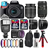 Canon EOS Rebel 800D/T7i Camera + 18-55mm IS STM Lens + Tamron 70-300mm Di LD Macro Lens + 6PC Graduated Color Filter Set + 2yr Extended Warranty + 32GB Class 10 Memory - International Version