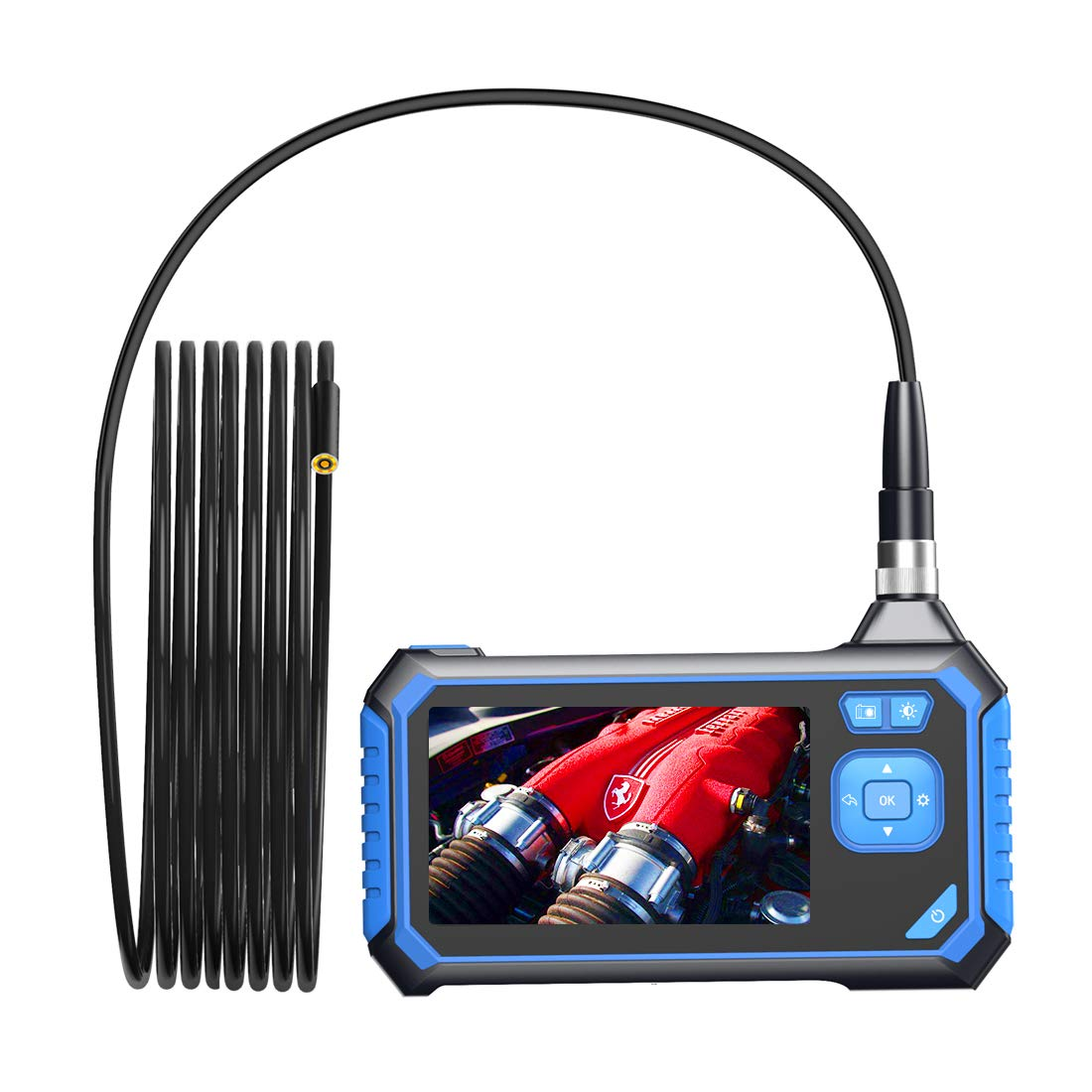 8GB SD Card(16.5FT) Industrial Endoscope,SKYBASIC Digital Borescope 4.3 Inch LCD 1.6-198inch Focal Distance Snake Camera 1080P HD 2600mAh Video Inspection Camera