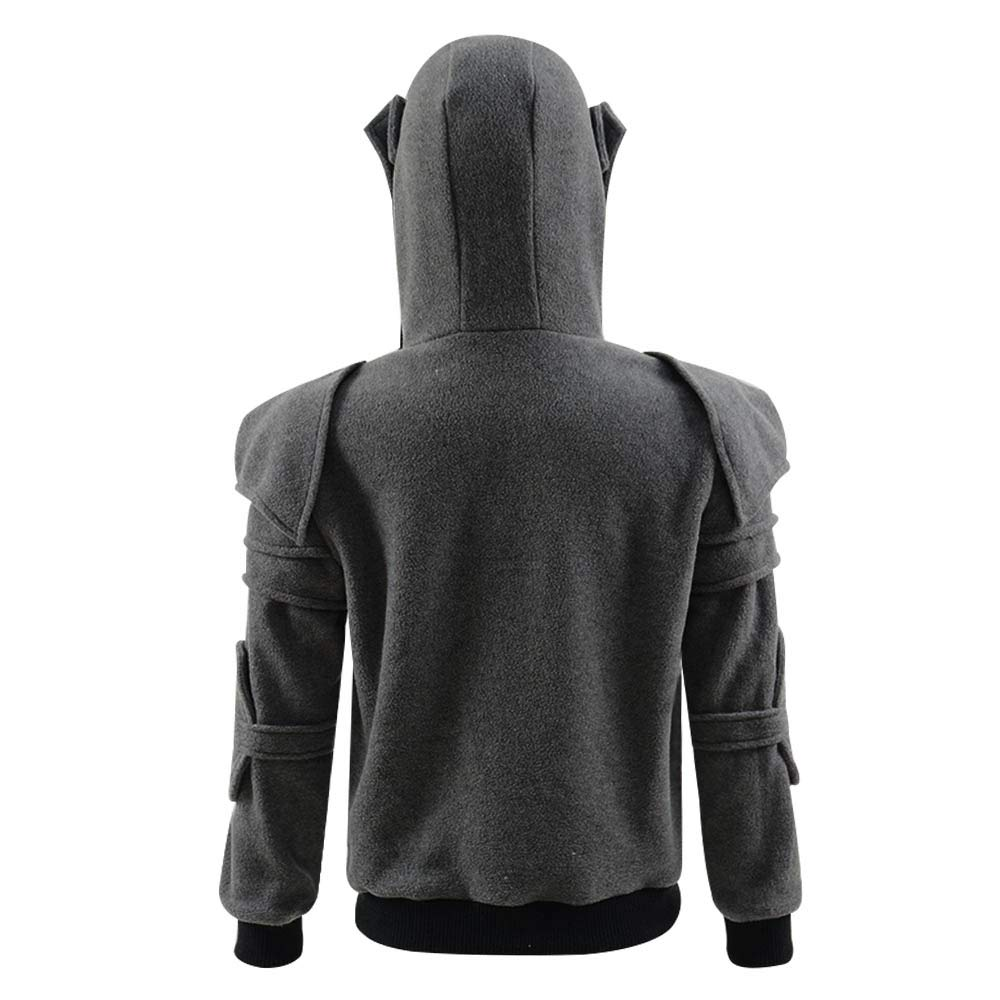 d93c8f0a Amazon.com: Men's Arthur Knight Hoodie Medieval Armor Sweatshirt Long  Sleeve Jacket Coat Great Shape Heavy: Clothing