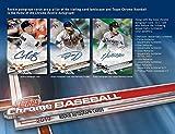 2017 Topps Chrome Baseball Blaster Box (8 Packs of 4 Cards, GREEN Refractors)