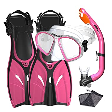 Promate Youth Snorkel Combo Set with Snorkeling Fins