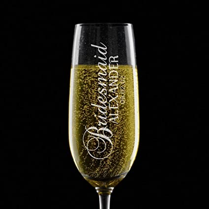 amazon com personalized champagne flute glasses any title