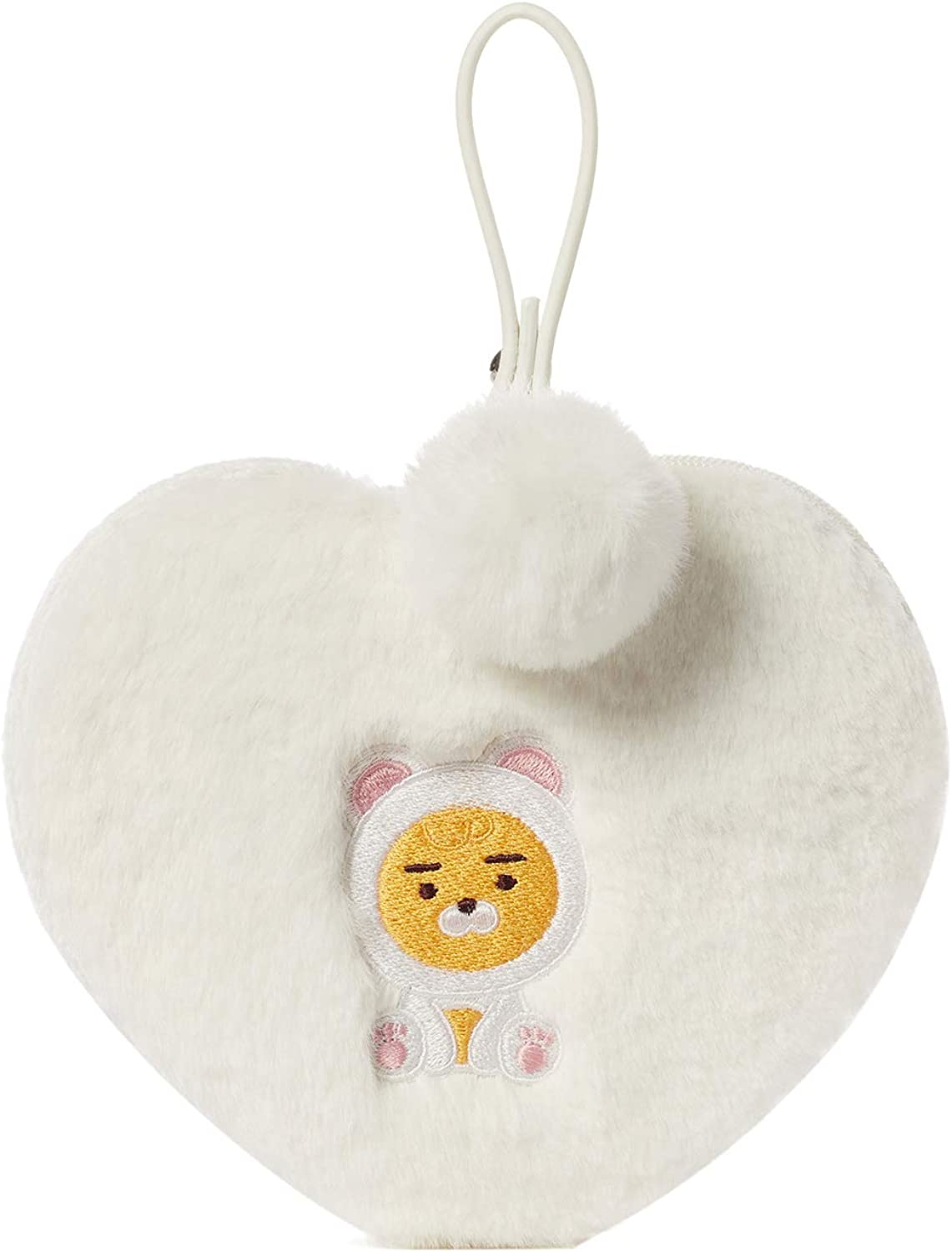 KAKAO FRIENDS Official- PomPom Heart Shaped Plush Pouch Case