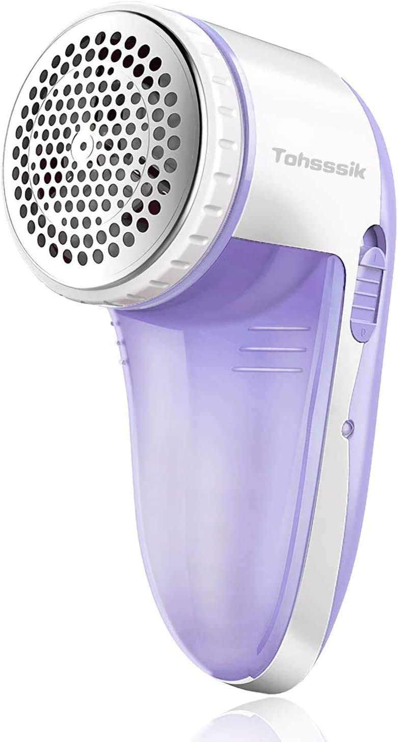 Fabric Shaver Electric Lint Remover Rechargeable Fuzz Lint Shaver with 3-Leaf Stainless Steel Blades, Professional Sweater Shaver Lint Fuzz Pill Remover for Cloths, Fabrics and Furniture