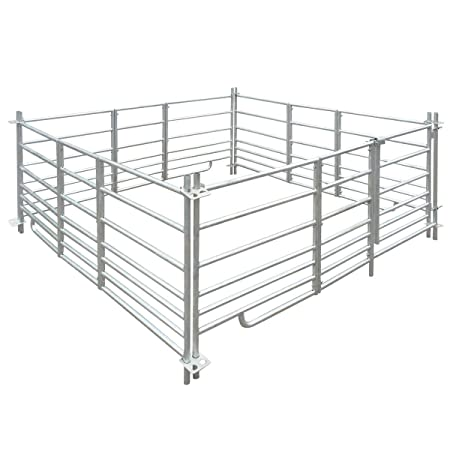 Vidaxl 4 Panel Sheep Pen Sheep Hurdles With Lock Galvanised Steel