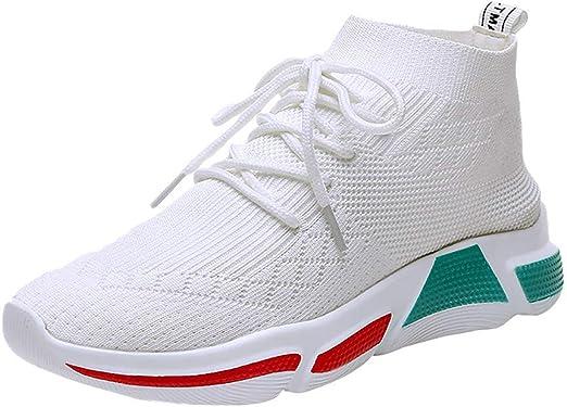 wyxhkj-Zapatos Mujer Deportivos Zapatos De Running Altos Para Mujer Zapatos De Gimnasia Zapatillas De Correr Calcetines Zapatos Planos Transpirable Sports Zapatillas Para Athletic: Amazon.es: Ropa y accesorios