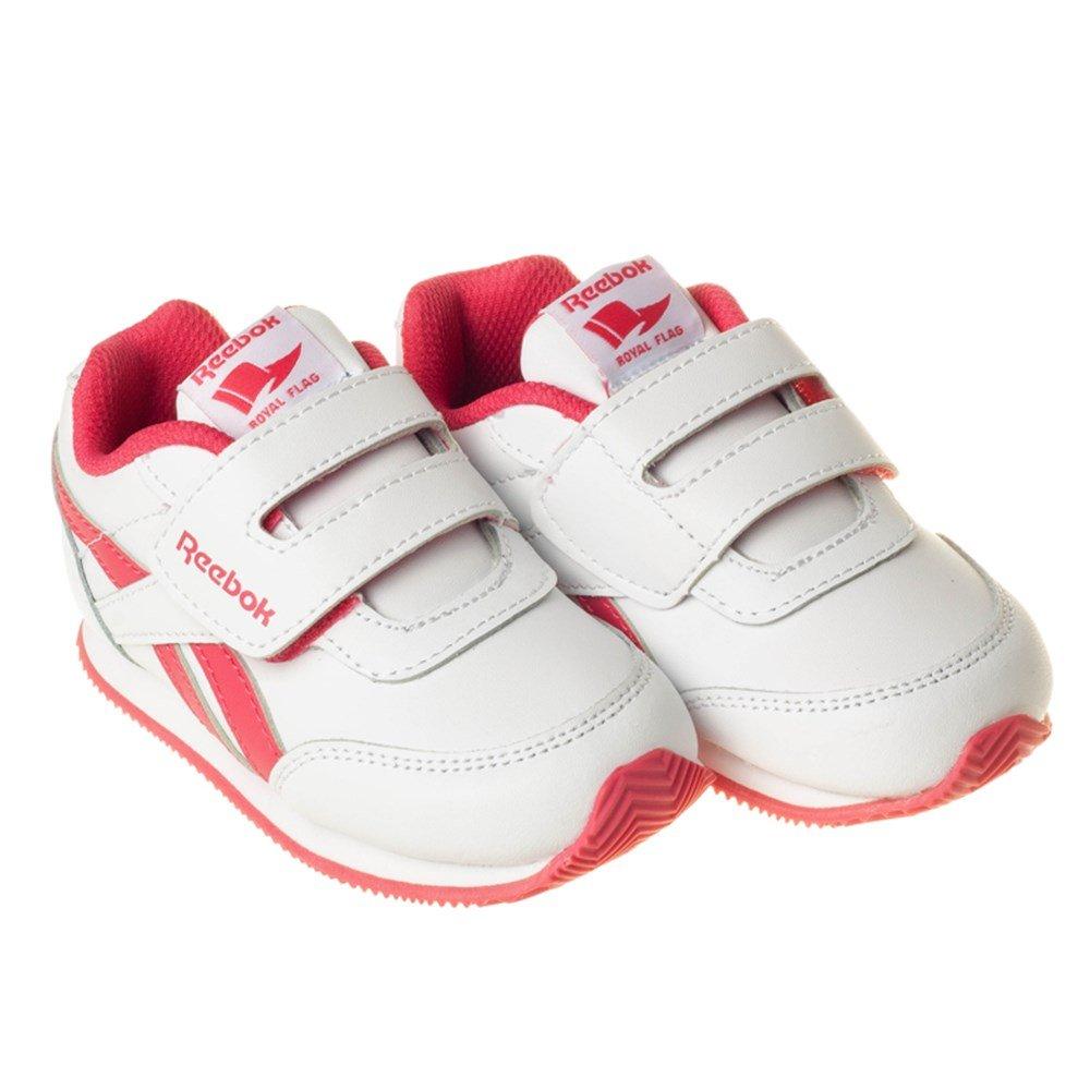 Reebok Royal Cljog 2 KC, Zapatos de Primeros Pasos Unisex Bebé, Blanco/Azul/Rojo (White/Collegiate Navy/Red Rush), 26 EU