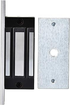 Cerradura de electroimán de 130 lb, cerradura magnética con fuerza de retención DC12V, adecuada para puerta