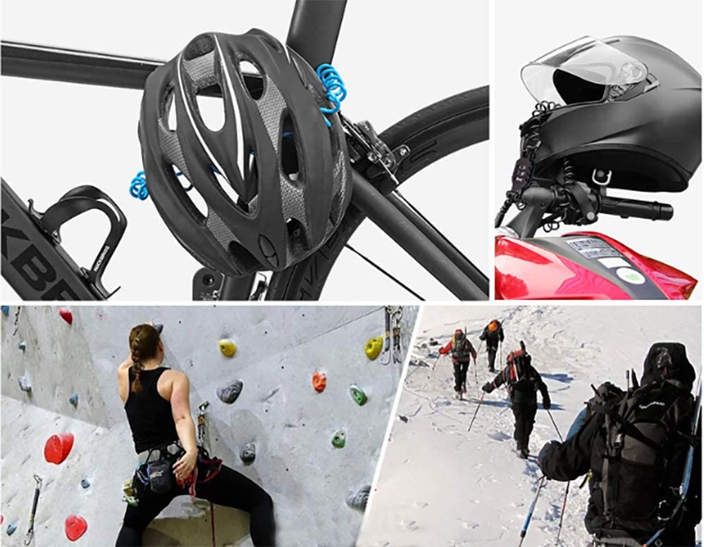 Universal motorcycle helmet password lock bicycle password lock theft lock wire password lock luggage stroller lock