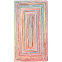 Capel Rugs Babys Breath 3 x 5 Rectangle Braided Area Rug (Pink)