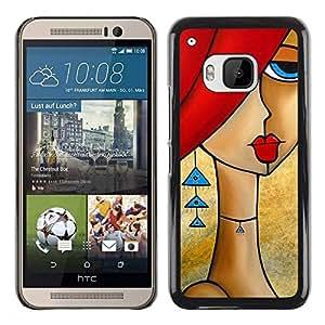 Be Good Phone Accessory // Dura Cáscara cubierta Protectora Caso Carcasa Funda de Protección para HTC One M9 // Earrings Woman Art Gold Fashion