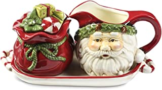 Santa Gift Bag Sugar and Creamer Set with Tray  sc 1 st  Amazon.com & Amazon.com | Lenox Kathy Ireland Once Upon A Christmas Sugar and ...