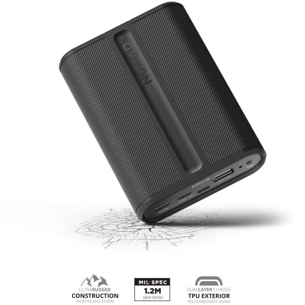 Nomad Advanced Trackable PowerPack - Rugged and Powerful - Advanced 9000mAh Backup Battery - Integrated Bluetooth Tracking - Locate with Tile by Nomad (Image #6)