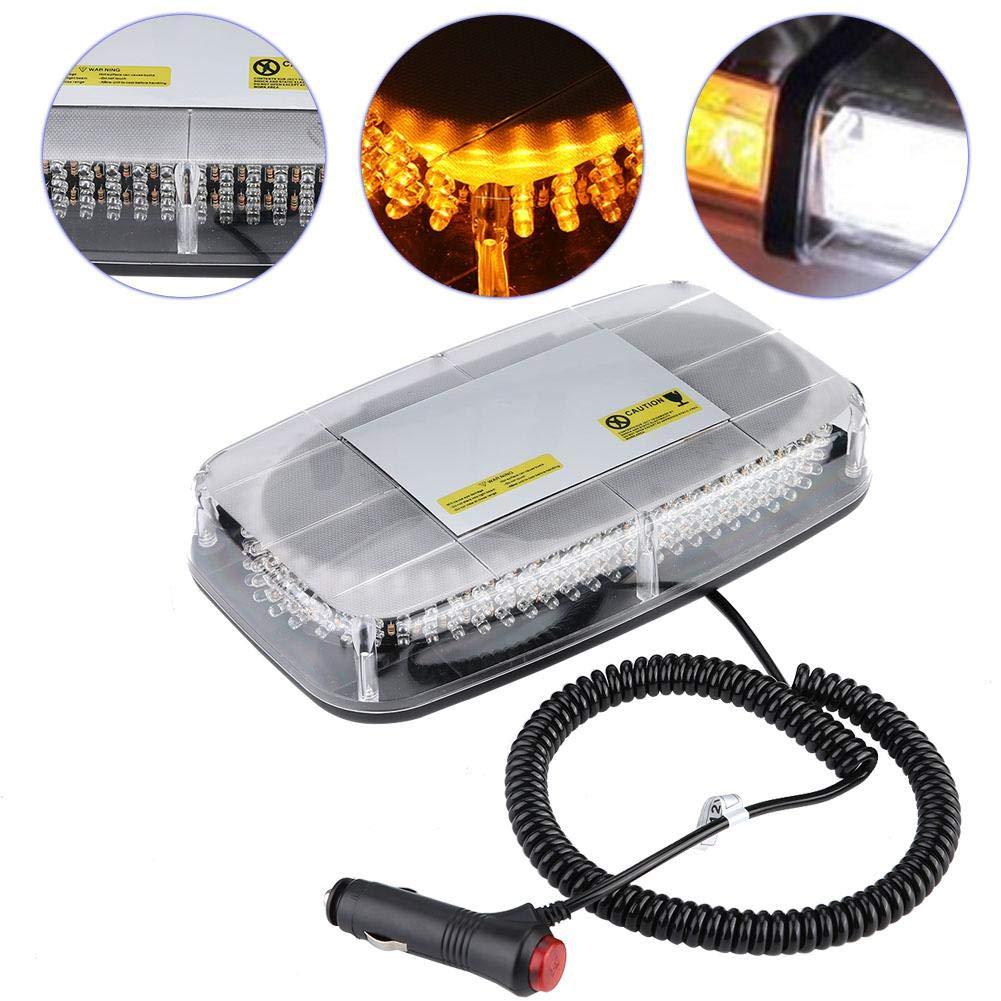 Acouto 240 Yellow LED Car Top Roof Flashing Lights Emergency Warning Lamps 12V 7 Abundant Flashing Modes Warning Strobe Flash Lights