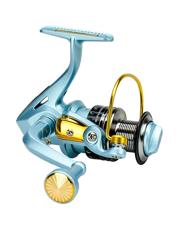 4000 LLJPYX7L Carrete de Pesca con cojinete de Acero Inoxidable 5BB, Equipo Liso de Alta Velocidad de 5.5  1, Adecuado for la Pesca de Agua Salada, la Pesca de Agua Dulce (Color   4000)