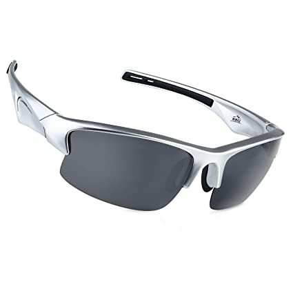 7547720d4fd9f Polarized Sports Sunglasses HiHiLL Cycling Glasses for Women Men Baseball  Running Golf Fishing with 5 Interchangeable Lenses UV400 Protection TR90  Durable ...