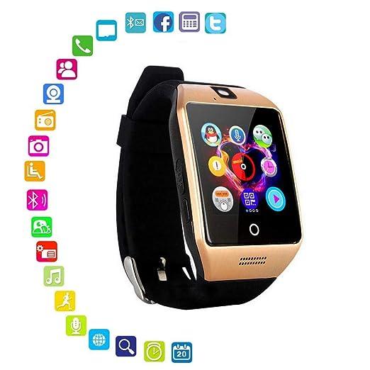 Q18 Reloj Inteligente,Pantalla táctil, Reloj de Pulsera con Ranura para Tarjeta SIM/TF, rastreador de Actividad Deportiva para Smartphones iOS y ...