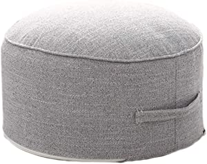 """idee-home Removable Handle Round Pouf Footstool 