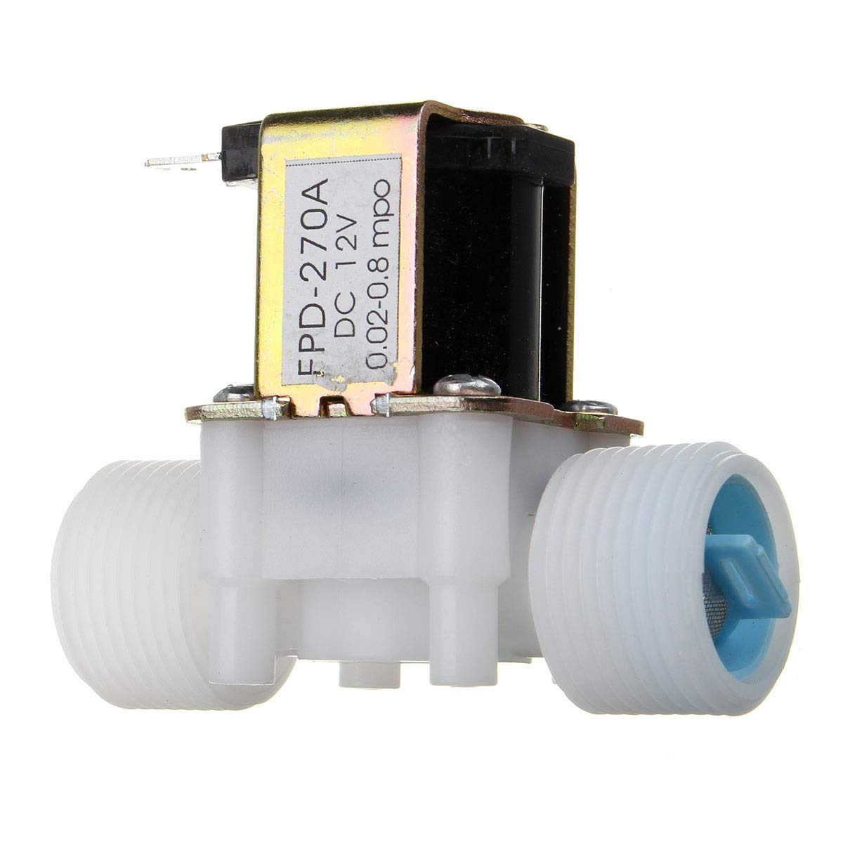 Tuersuer Easy to Assemble G3/4 12V PP Normally Closed Type Solenoid Valve Water Diverter Device