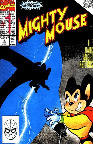 Mighty Mouse Comic #1 Oct 1990 By Marvel Comics (The Dark Might Returns, 1 Oct)