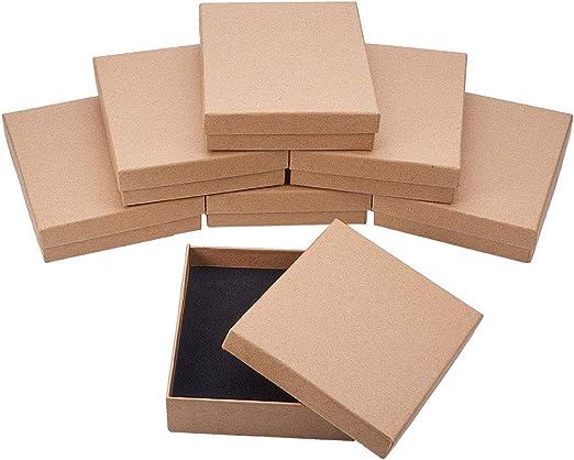 NBEADS Caja, 8 Unidades 11 X 13 Cm/4,3 X 5,1 Pulgadas Rectángulo Burlywood Cartón Bead Caja de Regalo para Joyería Pulsera Collar Manualidades Cumpleaños Navidad Festival Almacenamiento: Amazon.es: Hogar