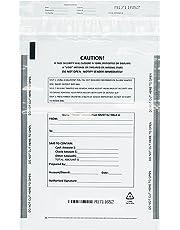 Benail Deposit Bags Security Pocket Bank 9 Inch x 12 Inch (White, 100 Pack)