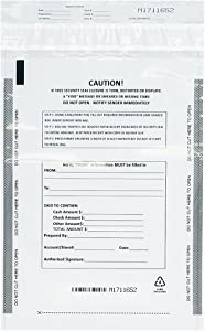 Belinlen Deposit Bags Security Pocket Bank 9 Inch x 12 Inch (White, 100 Pack)